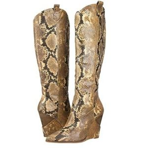 Jessica Simpson Harve Knee Snakeskin boots New Hot
